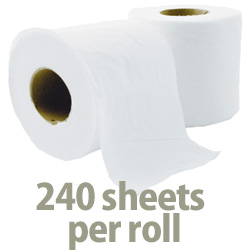 240 sheets per toilet roll