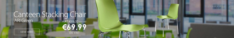 ARI Green Canteen Stacking Chair