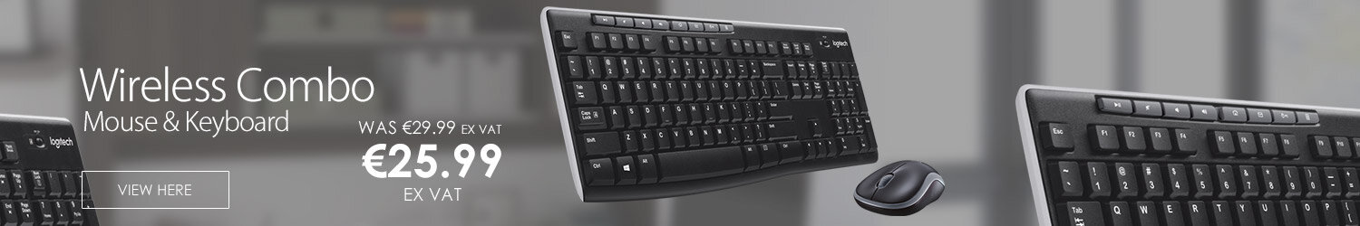 Logitech MK270 USB Wireless Combo 2.4 GHz Keyboard Mouse