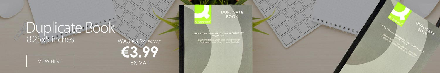Q-Connect Duplicate Book 8.25x5 inches (210x127mm) Ruled Feint KF04095