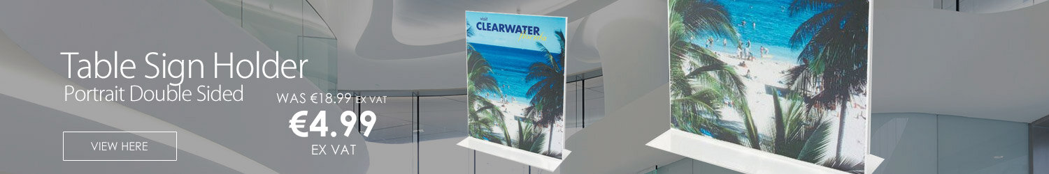 A4 Table Sign Holder Portrait Double Sided Deflecto
