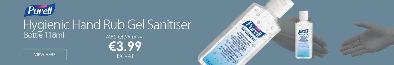 Purell Advanced Hygienic Hand Rub Gel Sanitiser Bottle 118ml (Pack 1)