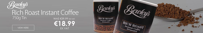Bewleys Rich Roast Instant Coffee Granules 750g Tin Pack of 1 CCI0011