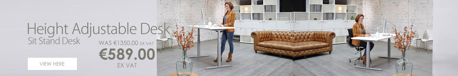 LEAP Electric Height Adjustable Sit Stand Desk W1200 x D800 x H630-1230 Beech