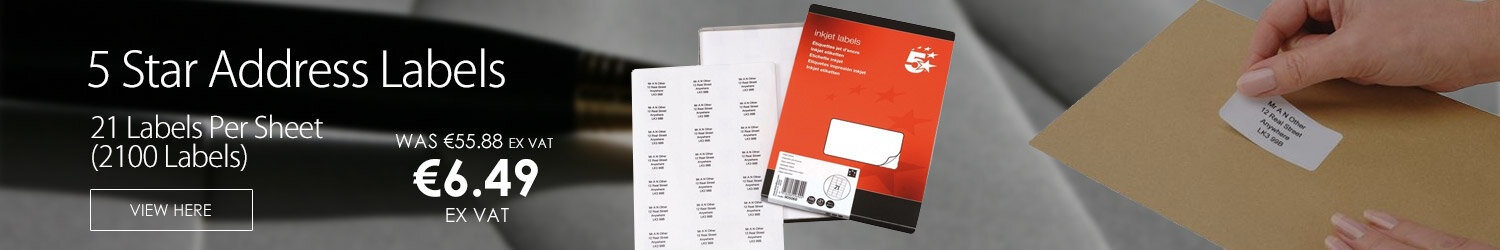 Address Labels 21 per Sheet White 2100 Inkjet Labels 5 Star  by 5 Star Supplies