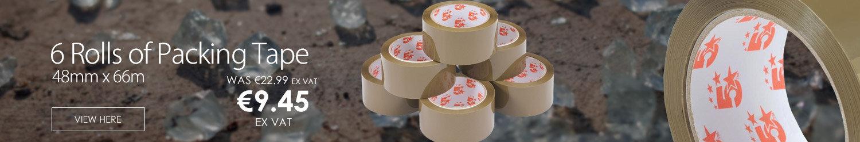 5 Star Polypropylene Packing Tape 48mm x 66m Buff 6 Pack