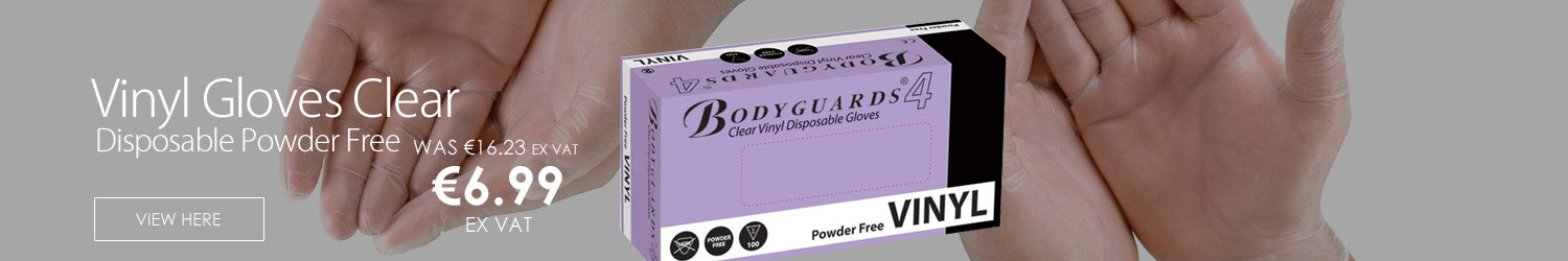 Disposable Powder Free Vinyl Gloves Clear Medium Box 100 Polyco Bodyguards4 Ref GL6222 [Pack 100]