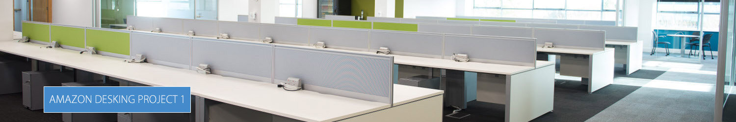 Amazon Phase 1 Main Office Bench Desking Project By Huntoffice Interiors