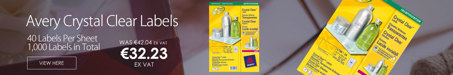 Avery 40 Per Sheet Crystal Clear Labels (1000 Labels)