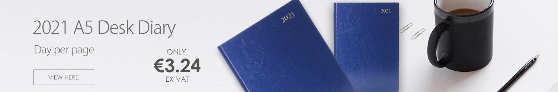 Desk Diary Day Per Page A4 Black 2021 KFA41BK21