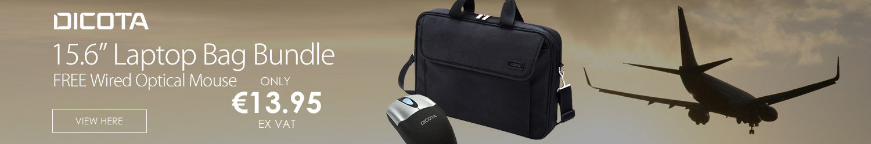 DICOTA Toploader Laptop Bag 15.6 & Mouse Bundle