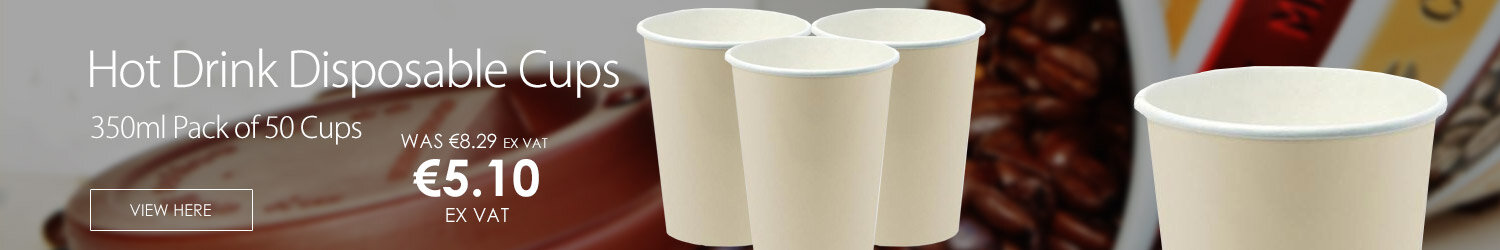 Hot Drink Cafe Disposable Paper Cups 12oz/350ml [Pack of 50] R2GO