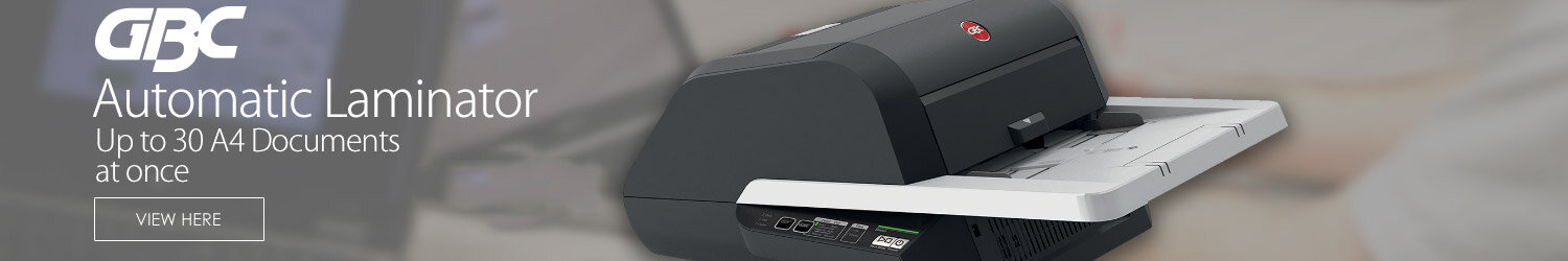 GBC Foton 30 Automatic A4 & A3 Laminator - Up to 30 x A4 Documents At Once - Instant Warm Up - Handle Media Up To 250gsm