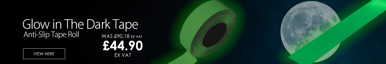 Photoluminescent Slip Resistant Tape Roll Glow in Dark Width 25mm x 18.3m Pack 1