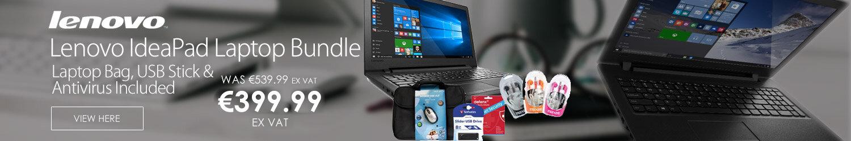 "Lenovo IdeaPad 110 15.6"" Laptop Bundle Deal Win10 - Laptop Bag - USB Stick - Antivirus"