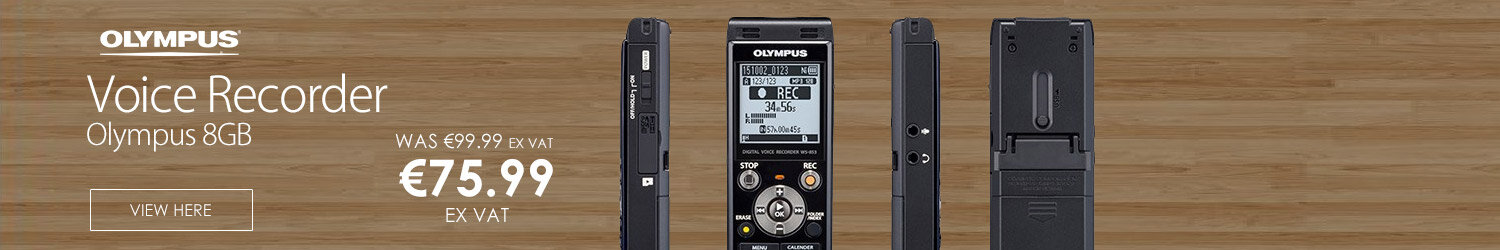 Olympus 8GB Voice Recorder Stereo Noise Cancelling microSD Card WS853