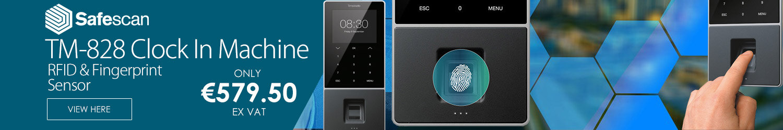 Safescan TimeMoto TM-828 Time Attendance System 3.5\\\\\\\'\\\\\\\' TFT Colour Display RFID & Fingerprint Sensor Clock In Machine