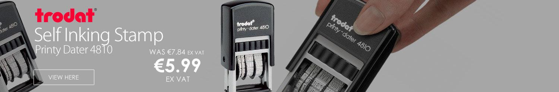 Trodat Printy Dater 4810 Stamp Self Inking 20 x 3.8mm Black