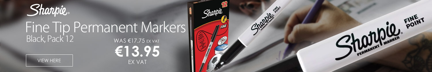 Sharpie Black Permanent Marker Fine Tip Pack 12