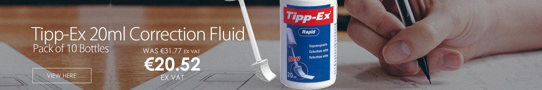Tipp-Ex 20ml Correction Fluid Pack of 10 Bottles