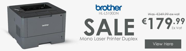 Brother HL-L5100DN Workgroup Mono Laser Printer Auto Duplex Network