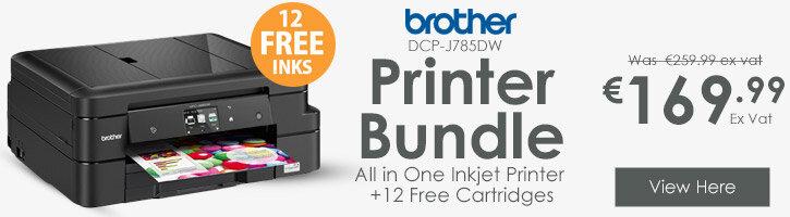 Brother DCP-J785DW 3-in-1 Inkjet Printer 12 FREE Ink Cartridges