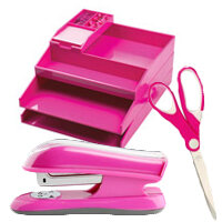 Pink Office Supplies