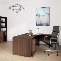 Fermo Executive Office Furniture Range - Dark Walnut