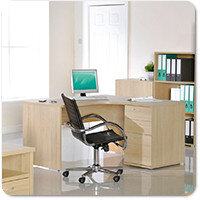 Eco Blonde Oak Home Office Furniture Range