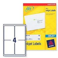 avery quickdry inkjet label 8 per sheet pack of 100 buy online at
