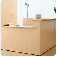 Traditional Wooden Reception Desks
