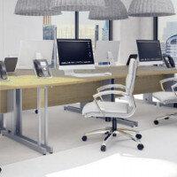 Trexus Oak Cable Managed Desking & Office Furniture Range