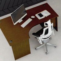 Trexus Walnut Panel End Desking & Office Furniture Range