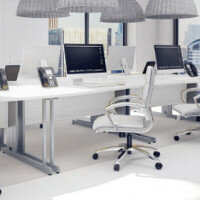 Trexus White Cable Managed Desking & Office Furniture Range