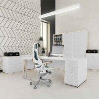 Trexus White Cantilever Desking & Office Furniture Range