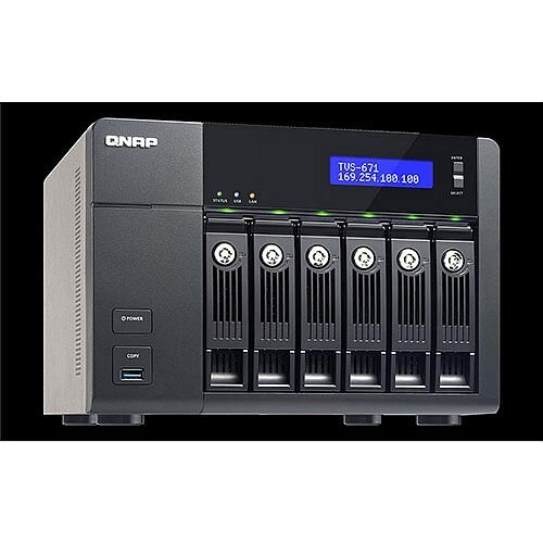 QNAP TVS-671 Tower (6-Bay) Network Attached Storage (NAS