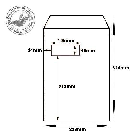 Blake Premium Secure Pocket Window P&S White C4 324x229 125gsm Ref TR8801 Pk 125