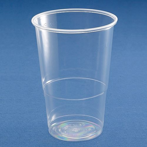 Clear Plastic Disposable Pint Tumbler Glasses Cups Glass Great Value Cheap!