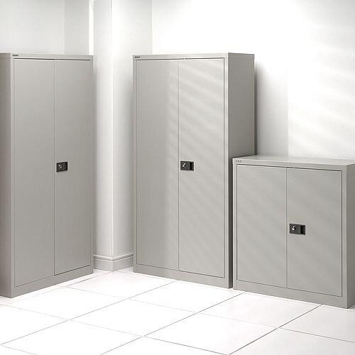 Trexus Storage Cupboard Steel 2-Door W914xD400xH1806mm Grey