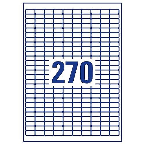 J8659-25 Pack of 25 Avery Mini Inkjet Label 17.8x10mm 270 per Sheet