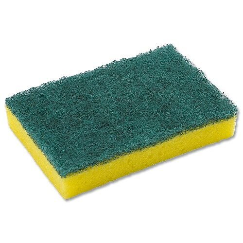 Pack of 10 3M General Purpose Scouring Pad Yellow