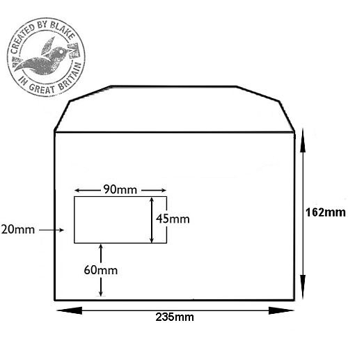 Purely Everyday Mailer Gummed Window White 90gsm C5+ 162x235mm (Pack of 500) HuntOffice.ie