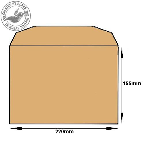 Purely Everyday Mailer Gummed Manilla 80gsm C5- 155x220mm (Pack of 500) HuntOffice.ie