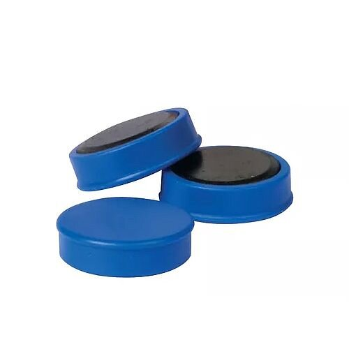 Whiteboard Magnets Round 25mm Blue Pack of 10 Q-Connect KF02640