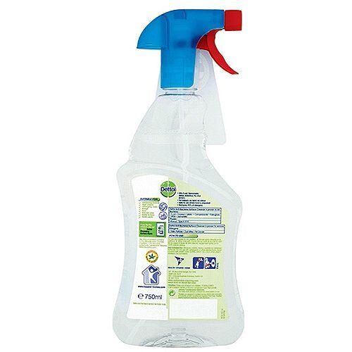 Dettol Anti-Bacterial Surface Cleanser Spray 750ml  Perfect For Everyday  Use Killing 99 9% Of Bacteria  Doesn't Contain Bleach Making It Safe For  Use