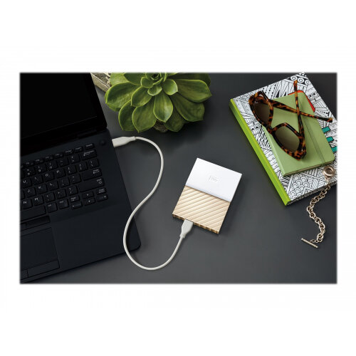 WD My Passport Ultra 2 TB Portable Hard Drive White//Gold