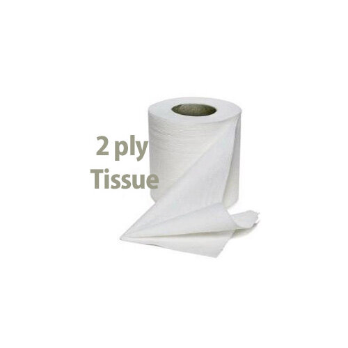 Cushelle Toilet Tissue Paper Rolls 2-Ply 180 Sheets White Pack of 12 Toilet Paper Rolls Additional Image 2
