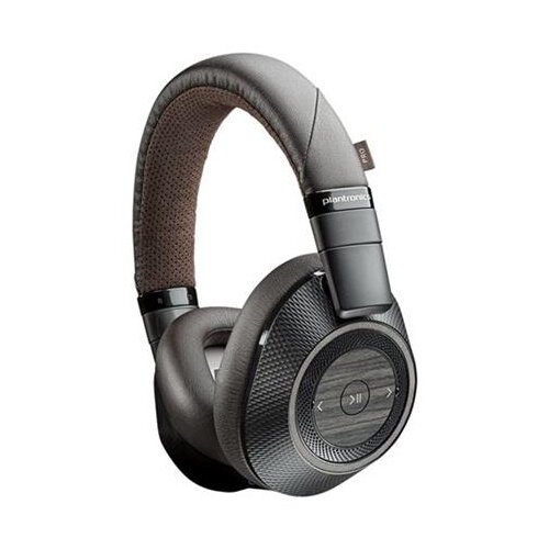 Plantronics BackBeat PRO 2 Over-Ear Wireless Bluetooth Headphones - Black/Tan - with Microphone 207110-05 at HuntOffice.ie