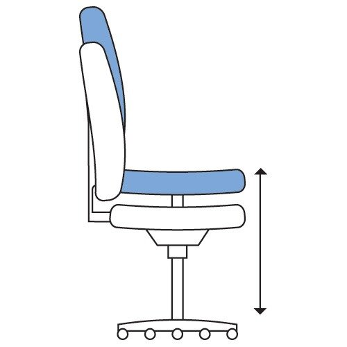 Ergonomic Mesh Task Operator Office Chair With Headrest Lumbar Support & Adjustable Arms White Eco-Leather Seat OZ Series Additional Image 3