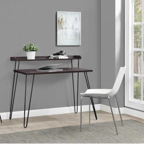 Haven Retro Home Office Desk with Riser – Espresso Additional Image 2